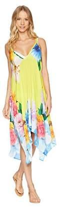 Nanette Lepore Women's Spaghetti Strap Cover Up Dress,Medium/Large