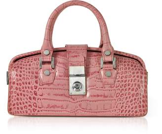 L.a.p.a. Croco-embossed Mini Doctor Style Bag