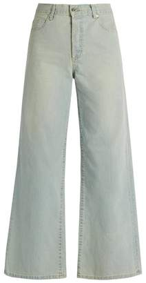 Eve Denim - Charlotte High Rise Wide Leg Jeans - Womens - Light Blue