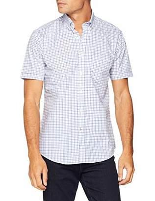 CORTEFIEL Men's Short Sleeve Shirt Checkered Casual Shirt,XX-Large