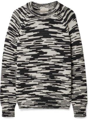 Tory Burch Olivia Mélange Merino Wool Sweater - Midnight blue