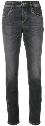 Cambio studded pocket slim-fit jeans