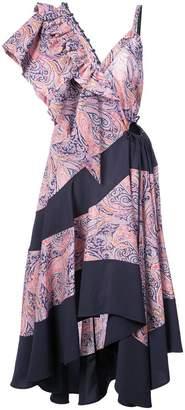 Loewe paisley ruffle dress