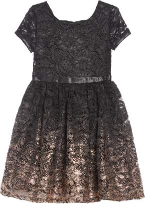 Little Angels Ombre Painted Lace Dress