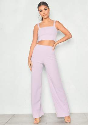 2f19324651b3 Missy Empire Asher Lilac Crop Top & Trouser Co-Ord Set
