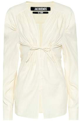 Jacquemus Zohra linen and cotton shirt