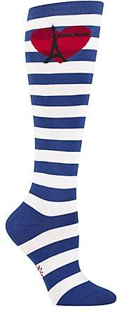 Sock It To Me Women's Striped Bonjour Mes Amis Knee High Socks Panty Hose