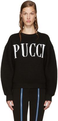 Emilio Pucci Black Logo Sweater $1,080 thestylecure.com