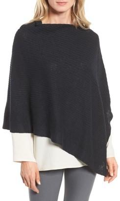 Women's Eileen Fisher Organic Linen & Cotton Poncho $118 thestylecure.com