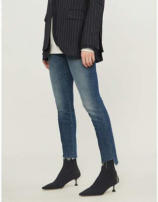 Mother Looker raw-cuff jeans