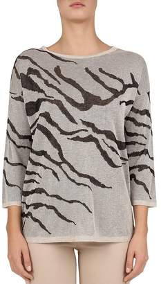 Gerard Darel Janela Zebra-Print Sweater