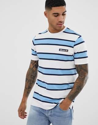 Ellesse Pluto retro striped t-shirt in white