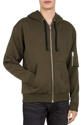 The Kooples Bomber-Pocket Zip Hoodie Sweatshirt