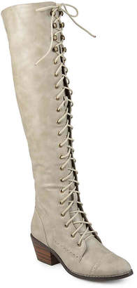 6e614a4797f Journee Collection Bazel Over The Knee Combat Boot - Women s
