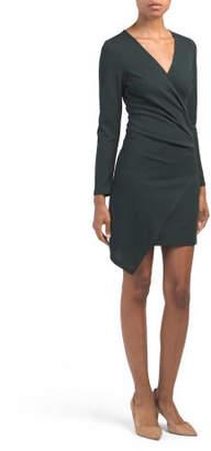 Made In Usa Asymmetrical Surplice Dress