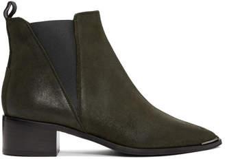 Acne Studios Green Suede Jensen Boots