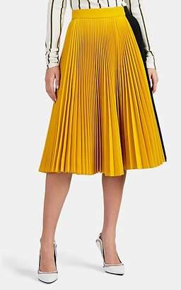 Calvin Klein Women's Colorblocked Twill Pleated Skirt
