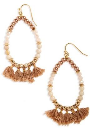 Women's Panacea Beaded Tassel Earrings $22 thestylecure.com