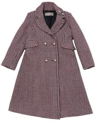 Ermanno Scervino Wool Blend Houndstooth Coat