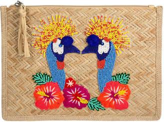 Saint Tropez Marinette Flowers Clutch Bag
