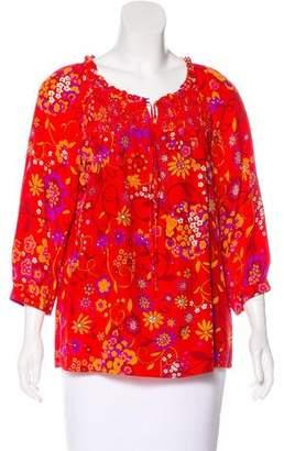 Tibi Floral Printed Blouse