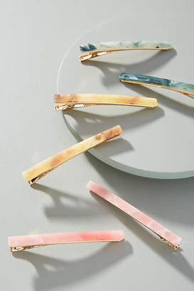 Anthropologie Watercolor Hair Clip Set