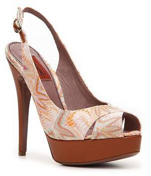 Missoni Printed Fabric Slingback Pump