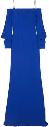 Roland Mouret Fimber Cold-shoulder Crepe Gown - Blue