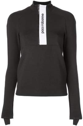 Paco Rabanne long-sleeved logo top