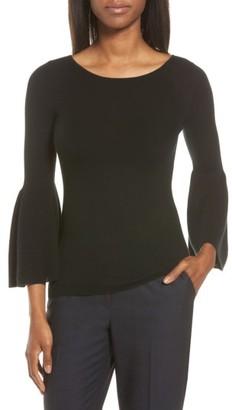 Women's Classiques Entier Bell Sleeve Silk & Cashmere Sweater $179 thestylecure.com