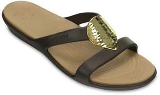 Crocs Sanrah Hammered-Metallic Women's Sandals