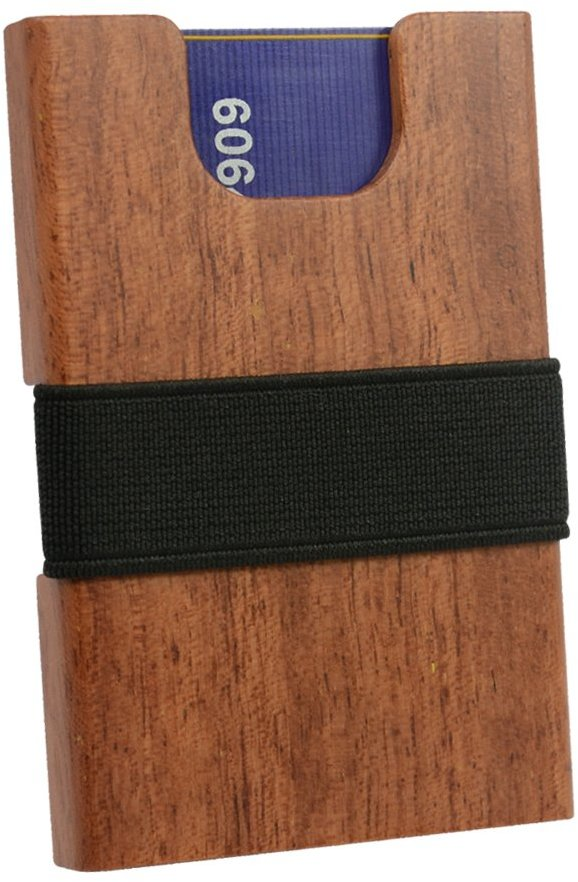 iCraft Slim Front Pocket Wooden Money Clip Wallet