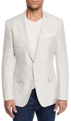 769ce576 BOSS Men's Linen/Wool Windowpane Sport Coat