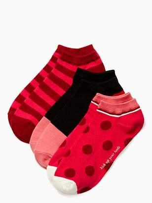 Kate Spade Stripe no show sock set
