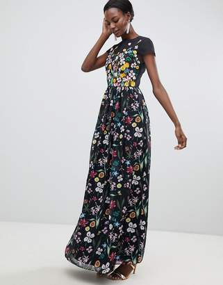 Ted Baker Embroidered Floral Mariz Maxi Dress