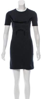 Theyskens' Theory Velvet-Accented Mini Dress
