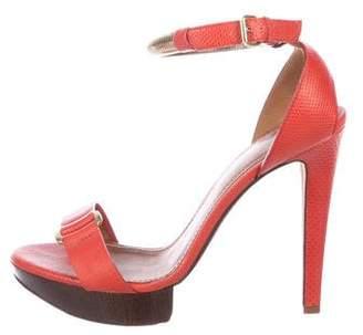 Lanvin Lizard Platform Sandals
