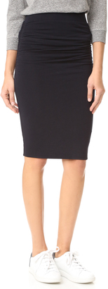 James Perse Double Shirred Skirt $165 thestylecure.com