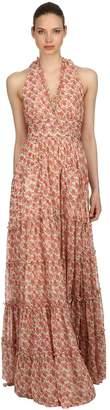 Luisa Beccaria Roses Printed Georgette Dress