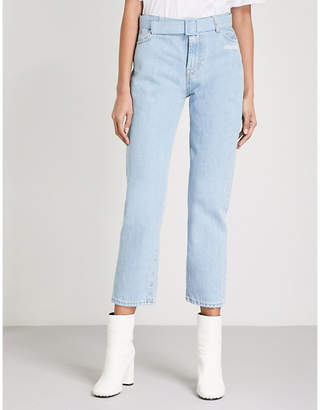Off-White Belted straight high-rise jeans