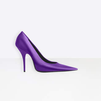 Balenciaga Extreme pointed toe satin silk pumps