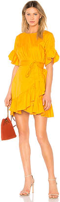 Cynthia Rowley Ruffle Mini Tie Dress
