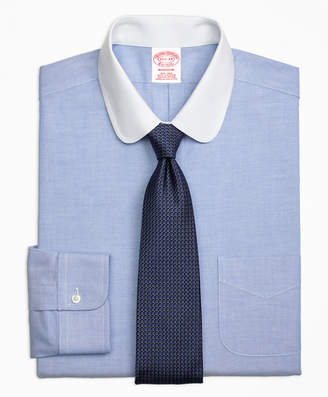 Brooks Brothers Madison Classic-Fit Dress Shirt, Non-Iron Contrast Golf Collar