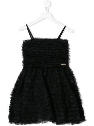 DSQUARED2 smocked tulle dress