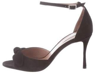 Tabitha Simmons Suede Ankle-Strap Sandals