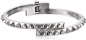 Rebecca Minkoff Pyramid Hinge Thin Bangle Bracelet by