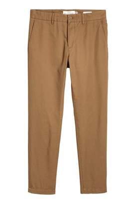 H&M Cotton Chinos Slim fit - Beige - Men