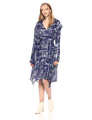 Nicole Miller Women's Blueprint wrap Dress