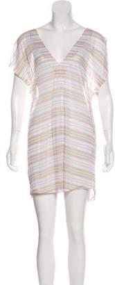 Jenni Kayne Striped V-Neck Dress