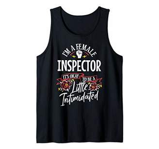 IDEA Strong Woman Inspector Funny Birthday Gift Tank Top